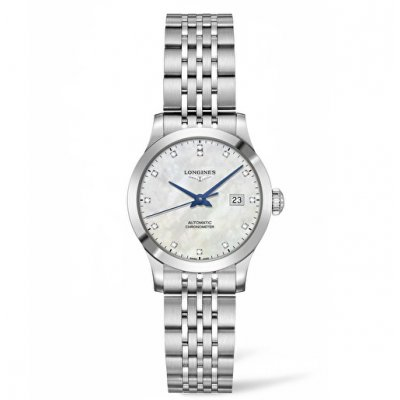 Longines Record L23214876 Diamanty, Automat, 30 mm