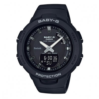 Casio BABY-G BGS 100SC-1A Water resistance 100M, STEP TRACKER, 42.6 mm