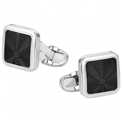 Mont Blanc 118613 Cufflinks, Striebro, 15 x 15 mm