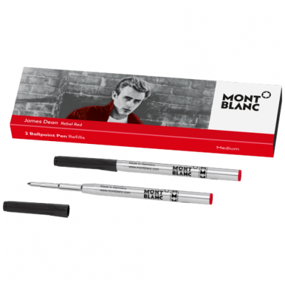 Mont Blanc 118205 Fillers, Ballpoint, James Dean, Red, (M)