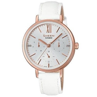 Casio SHEEN SHE 3064PGL-7A Quartz, Swarovski, 34 mm