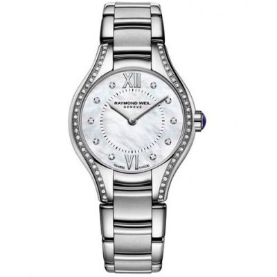 Raymond Weil Noemia 5124-STS-00985 Quartz, 24 mm, diamanty