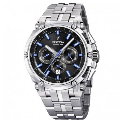Festina Chrono bike F20327/7 Vode odolnosť 100M, Quartz Chronograf, 44 mm