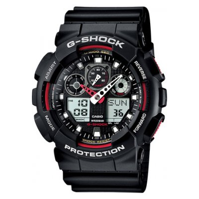 Casio G-SHOCK GA 100-1A4 Water resistance 200M, Quartz, 51.2 mm