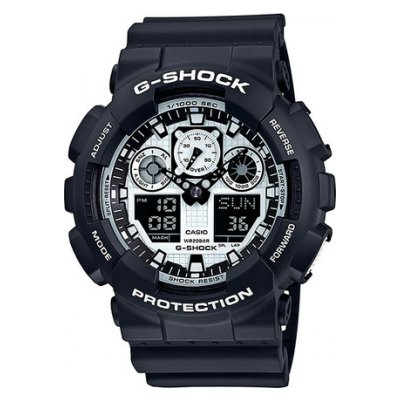Casio G-SHOCK GA 100BW-1A Vodotěsnost 200M, Quartz, 51.2 mm
