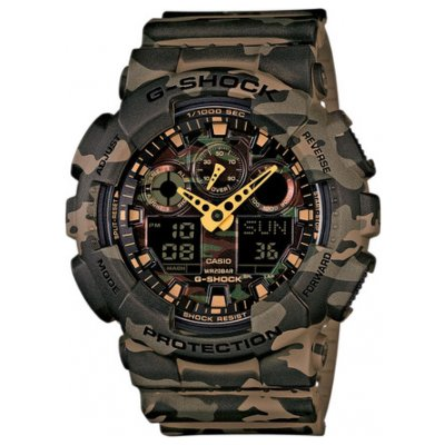 Casio G-SHOCK GA 100CM-5A Vodotěsnost 200M, Quartz, 51.2 mm