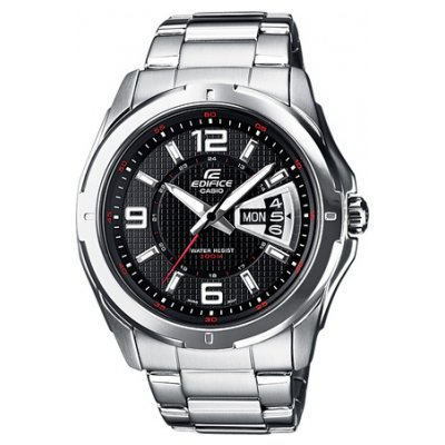 Casio EDIFICE EF 129D-1A Water resistance 100M, Quartz, 44.8 mm