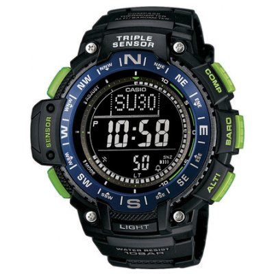 Casio SPORT GEAR SGW 1000-2B Water resistance 100M, Quartz, 54.1 mm