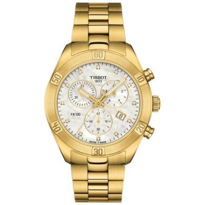 Tissot T-Classic PR 100 T101.917.33.116.01 Quartz Chronograf, Diamanty, 38 mm