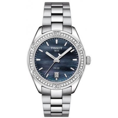 Tissot T-Classic PR 100 T101.910.61.121.00 Diamanty, Quartz, 36 mm