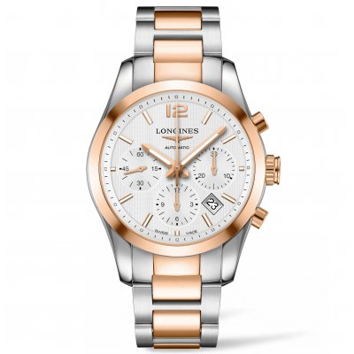 Longines Conquest Classic L27865767 Steel Gold, Automatic Chronograph, 41 mm