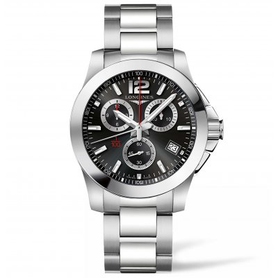 Longines Conquest L37004566 Vode odolnosť 300M, Quartz Chronograf, 41 mm
