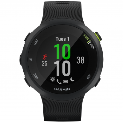 Garmin Forerunner 45, Black 010-02156-15 42 mm, Power Glass, Vode odolnosť 50M
