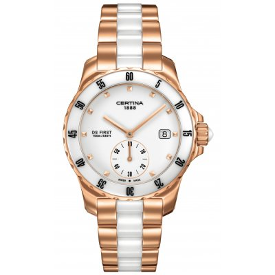 Certina DS First C014.235.33.011.00 LADY CERAMIC, Quartz, 34.8 mm