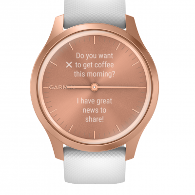 Garmin Vivomove Style, Rose Gold 010-02240-20 42 mm, Corning Gorilla® Glass, Vode odolnosť 50M