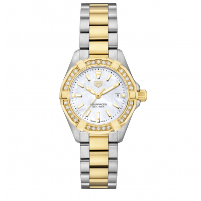 TAG Heuer Aquaracer WBD1421.BB0321 Diamonds, Gold, Quartz, Water resistance 300M, 27 mm