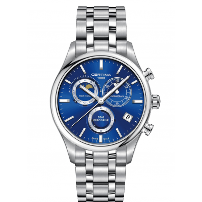Certina DS-8 C033.450.11.041.00 Mesačné fázy, Quartz Chronograf, 42 mm