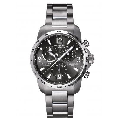 Certina DS Podium C001.639.44.087.00 GMT, Quartz Chronograf, 42 mm