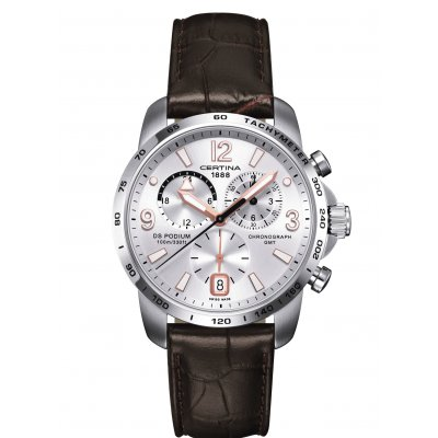 Certina DS Podium C001.639.16.037.01 GMT, Quartz Chronograf, 42 mm