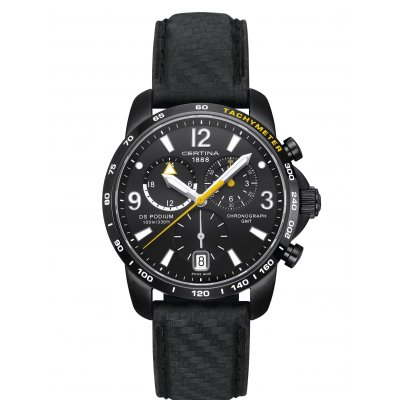 Certina DS Podium C001.639.16.057.01 GMT, Quartz Chronograf, 42 mm