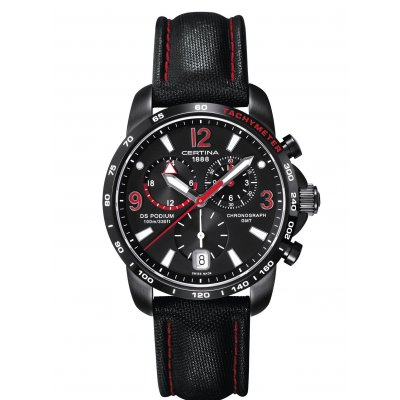 Certina DS Podium C001.639.16.057.02 GMT, Quartz Chronograf, 42 mm