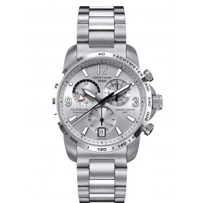Certina DS Podium C001.639.11.037.00 GMT, Quartz Chronograph, 42 mm