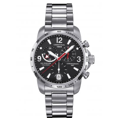 Certina DS Podium C001.639.11.057.00 GMT, Quartz Chronograf, 42 mm