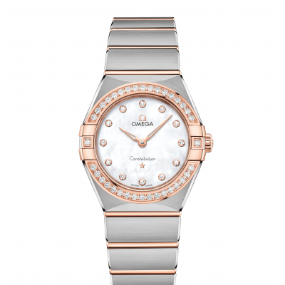Omega Constellation 131.25.28.60.55.001 Zlato & Diamanty, Quartz, 28 mm