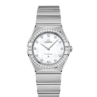 Omega Constellation Manhattan 131.15.28.60.55.001 Diamanty, Quartz, 28 mm
