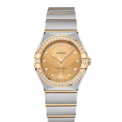 Omega Constellation Manhattan 131.25.28.60.58.001 Gold & Diamonds, Quartz, 28 mm