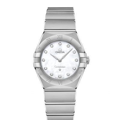 Omega Constellation Manhattan 131.10.28.60.55.001 Diamanty, Quartz, 28 mm