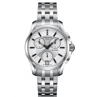 Certina DS Prime C004.217.11.036.00 Diamanty, Quartz Chronograf, 41.5 mm
